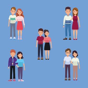 Cinco parejas grupales