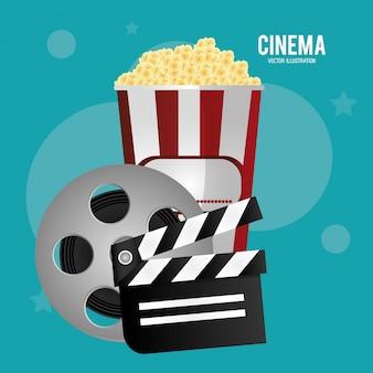 Cine carrete película palomitas de maíz película de maíz