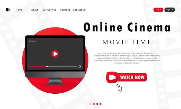Cine en línea en casa. durante una pandemia, vea películas en casa.