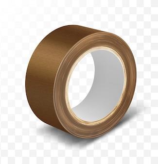 Cinta adhesiva de rollo de conducto marrón
