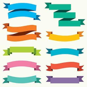 Cinta colorida y diseño de banner