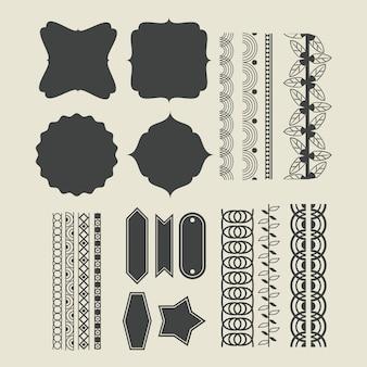 Cinta decorativa emblemas de dibujos animados.