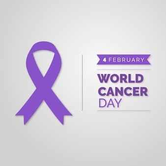Cinta del día mundial del cáncer
