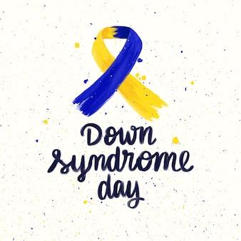 Cinta del día mundial del síndrome de down