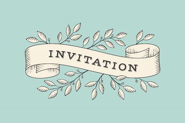 Cinta con inscripción invitación