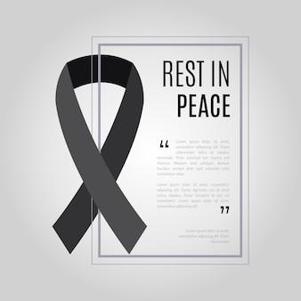 Cinta de luto descansa en paz