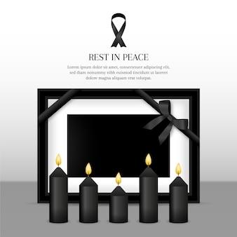 Cinta de luto con diseño de marco