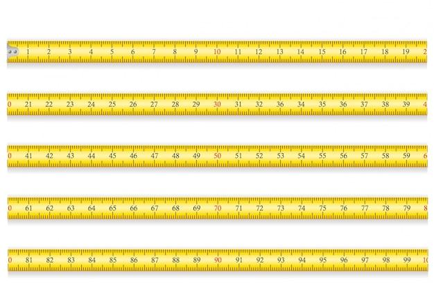 Cinta métrica para la ruleta de herramientas. eps 10