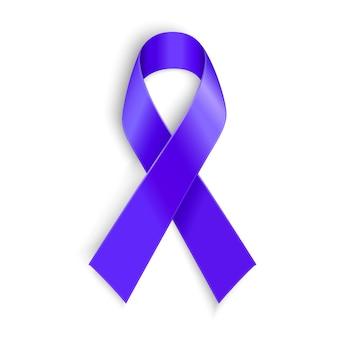 Cinta morada como símbolo de conciencia del cáncer