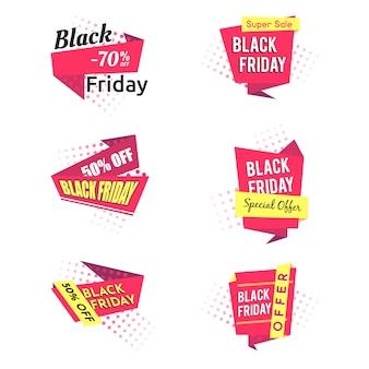 Cinta negra moderna de viernes con efecto de semitono