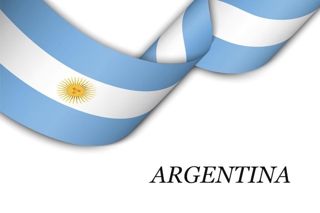 Cinta ondeando con la bandera de argentina.