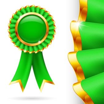 Cinta de premio verde