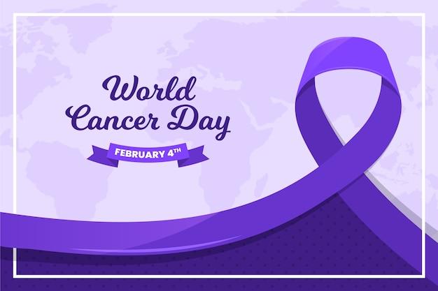 Cinta púrpura del día mundial del cáncer