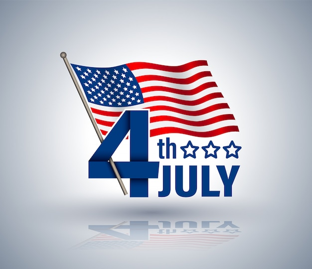 Cinta roja del 4 de julio con estrella de usa.