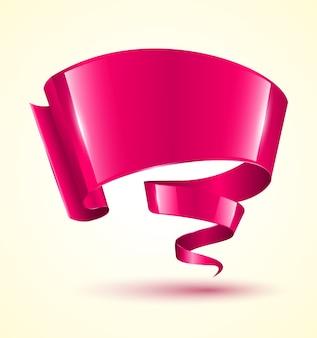 Cinta rosa con giro de banner