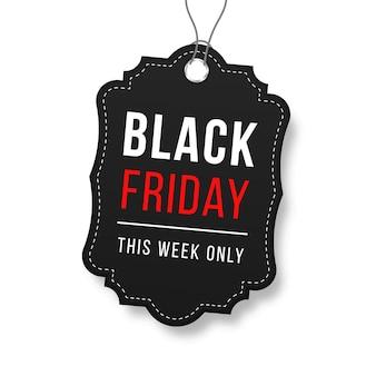 Cinta venta insignia banner precio etiqueta nueva oferta colección en negro