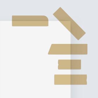 Cintas adhesivas adhesivas de papel adhesivo scotch strip en el fondo