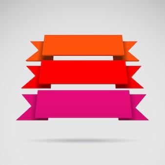 Cintas de colores 3d vector de infografía