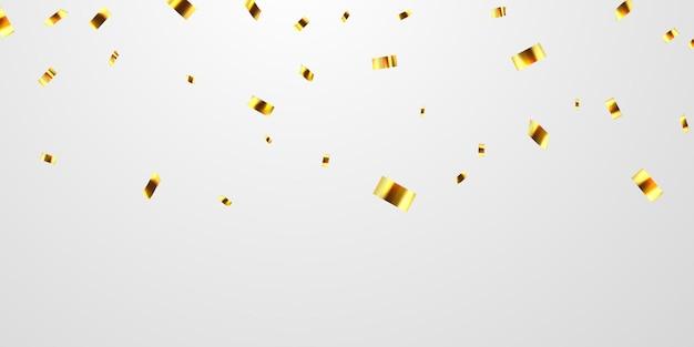 Cintas de confeti de oro.
