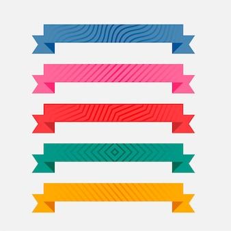 Cintas estampadas coloridas juego de cinco