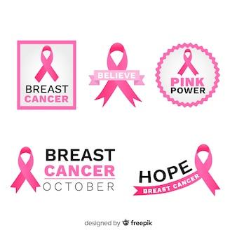 Cintas rosadas temáticas para el reconocimiento del cáncer de mama