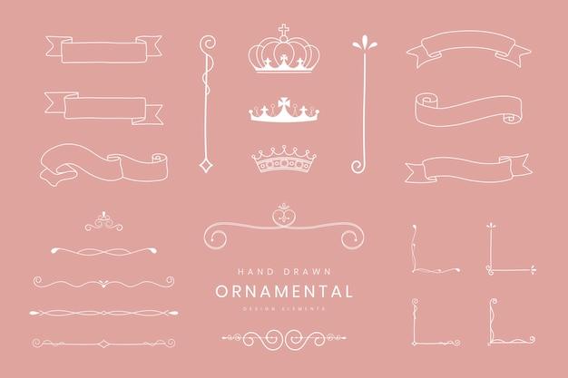 Cintas y separadores ornamentales.