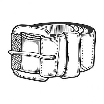 Cinturón de cuero, objeto de moda y accesorio.