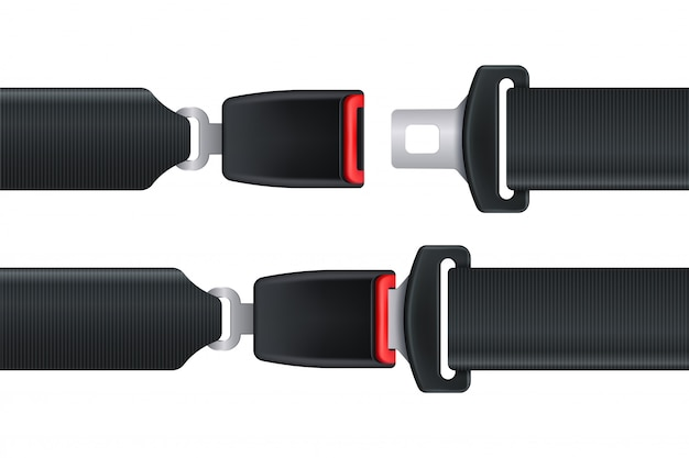 Cinturón de seguridad aislado para la seguridad del automóvil o avión.