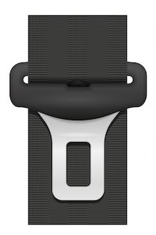 Cinturón de seguridad para automóvil en caso de accidente.