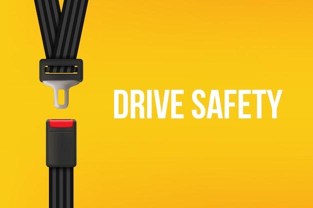 Cinturón de seguridad, cinturón de seguridad abierto y cerrado.