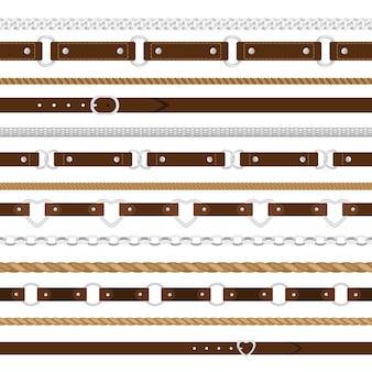 Cinturones de patrones sin fisuras