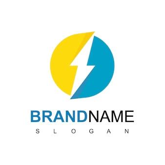 Circle bolt, energy logo design inspiration