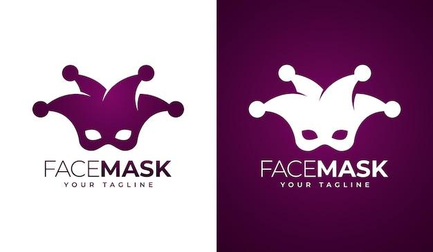 Circo carnaval máscara logo diseño creativo