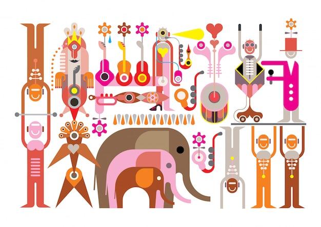 Circo - ilustración vectorial