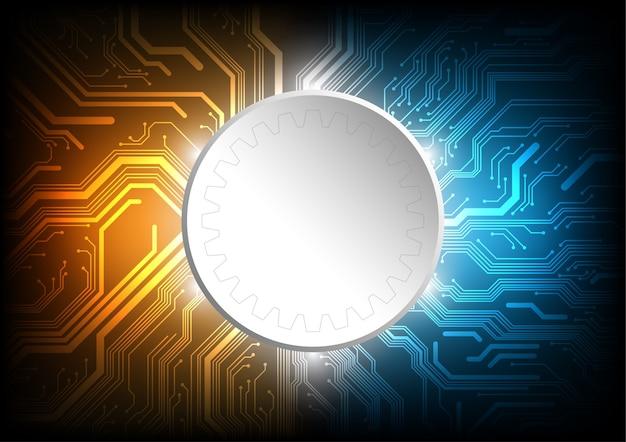 Circuit line board, concepto de vector de tecnología.
