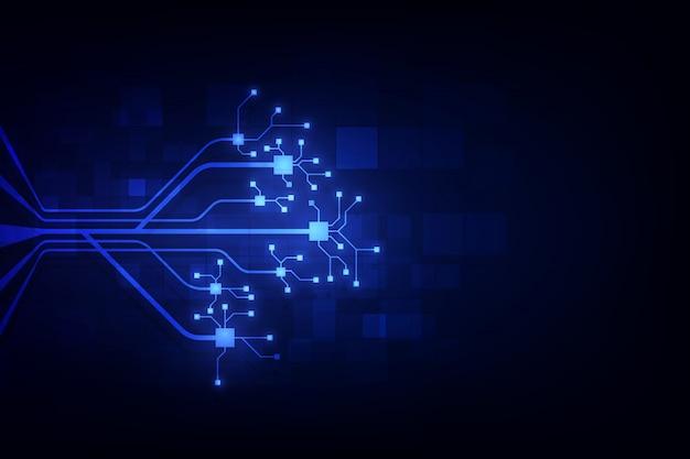 Circuito abstracto fondo de blockchain de redes