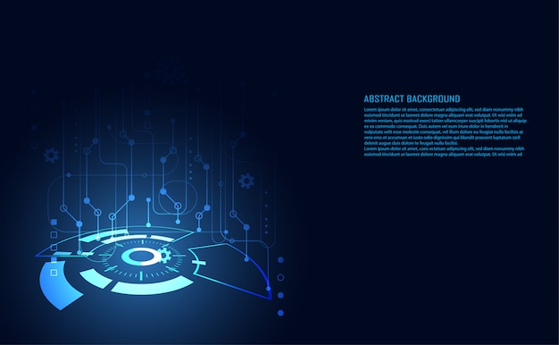 Circuito digital de tecnología abstracta moderna