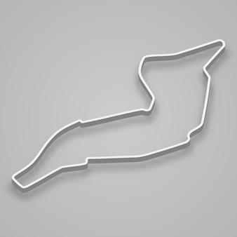 Circuito de imola para automovilismo y automovilismo. pista de carreras del gran premio de san marino.