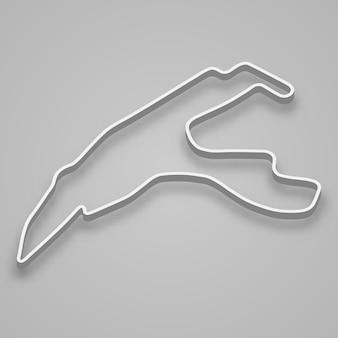 Circuito spa-francorchamps para automovilismo y automovilismo. pista de carreras de gran premio.