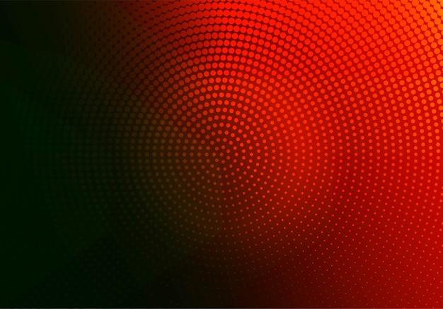 Circular punteada roja y negra abstracta