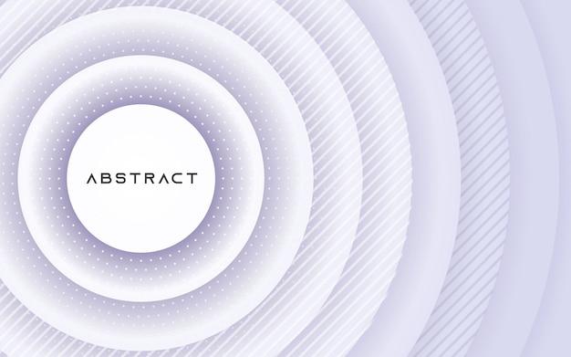 Círculo 3d abstracto papercut layer fondo blanco.