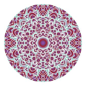 Círculo abstracto mandala arte con forma de degradado