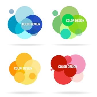 Círculo abstracto de vector colorido, marcos redondos, fondo. elementos de diseño abstracto de vector.