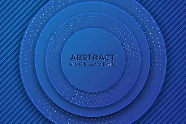 Círculo azul abstracto 3d con combinación de puntos de brillos