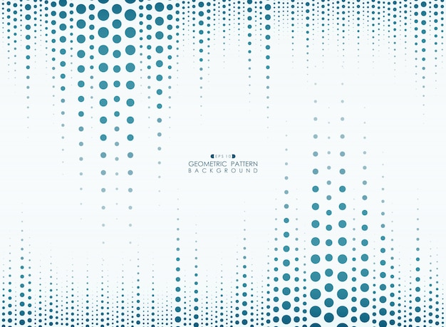 Círculo azul línea patrón fondo geométrico vertical