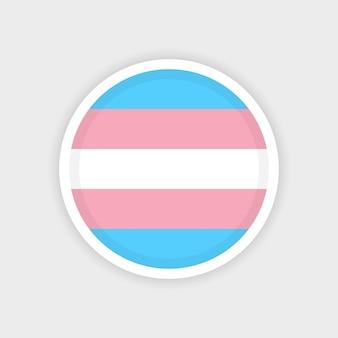 Círculo de bandera transgénero con fondo blanco.