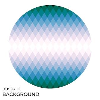 Círculo colorido de rombos aislado sobre fondo blanco. fondo de vector abstracto.