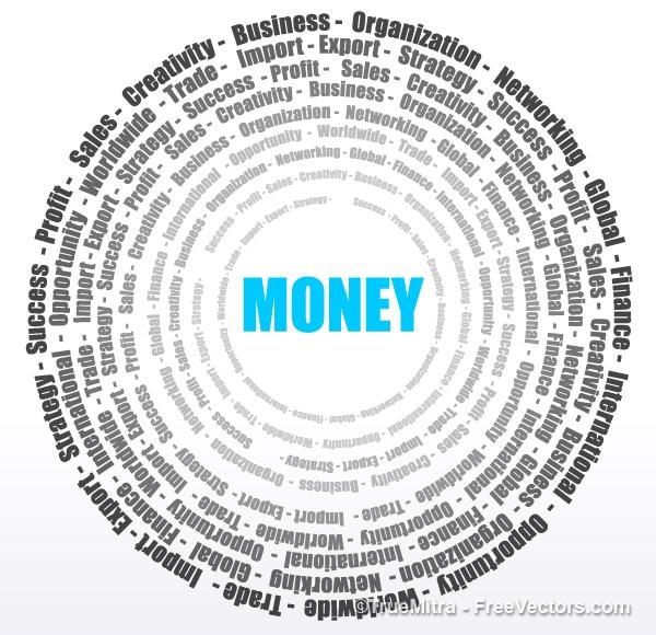 Círculo en el dinero y los negocios