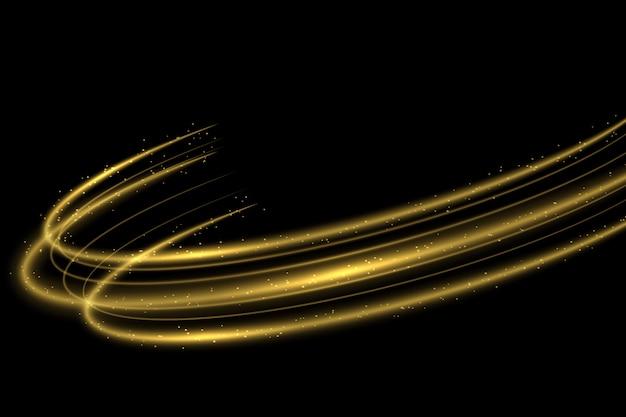 Círculo dorado efecto de trazado de luz.
