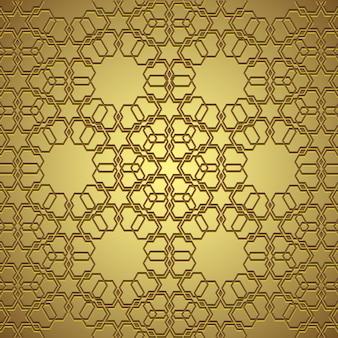 Círculo dorado ornamento sin fisuras de fondo